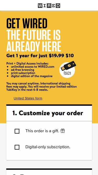 WIRED International & Overseas Subscription