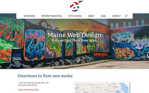 Screenshot of Maps & Directions Page takeflyte.com - Directions - flyte new media - captured Oct. 6, 2018