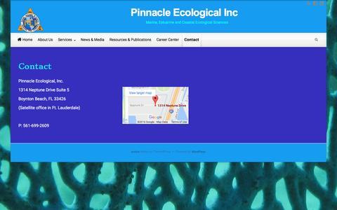 Screenshot of Contact Page pinnacleecological.com - Contact – Pinnacle Ecological Inc - captured Nov. 6, 2016