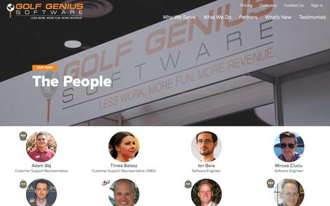 Screenshot of About Page golfgenius.com - Golf Genius Software - captured April 2, 2018