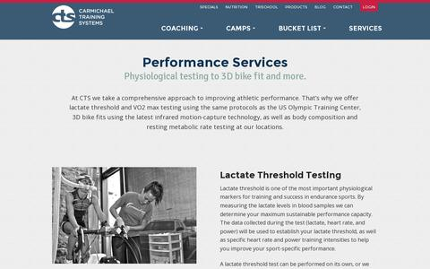 Screenshot of Services Page trainright.com - Services - CTS - captured July 19, 2014