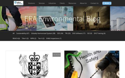 Screenshot of Blog era-environmental.com - Environmental Compliance Management Blog | ERA Environmental - captured Dec. 29, 2018