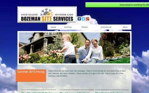 Screenshot of Pricing Page bozemansiteservices.com - Bozeman Lawn Care, Bozeman Landscaping, Bozeman Snow Removal - captured June 2, 2017