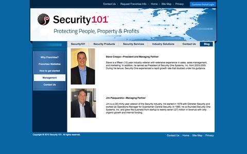 Screenshot of Team Page security101.com - Management - captured Oct. 26, 2014