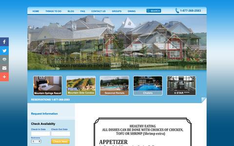 Screenshot of Menu Page bluemountainlodges.ca - The Lodge Restaurant Menu | Lodges at Blue Mountain - captured Oct. 18, 2018