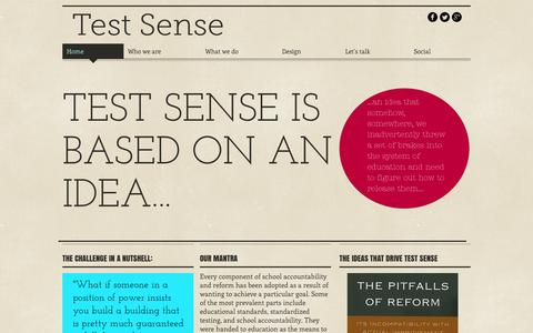 Screenshot of Contact Page testsense.com - Test Sense - captured Aug. 15, 2015
