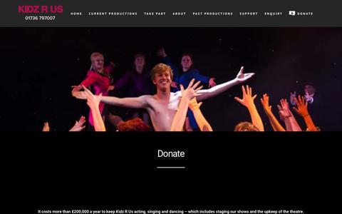 Screenshot of Support Page kidzrus.net - SUPPORT – Kidz R Us - captured Sept. 20, 2018