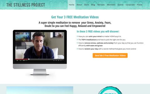 Screenshot of Home Page stillnessproject.com - The Stillness Project - Inspire People to Meditate Daily - captured Oct. 20, 2017