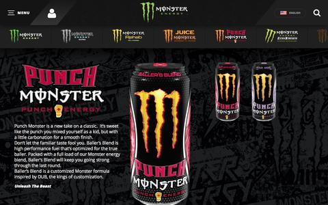 Screenshot of Products Page monsterenergy.com - PRODUCTS | Monster Energy - captured Aug. 18, 2016