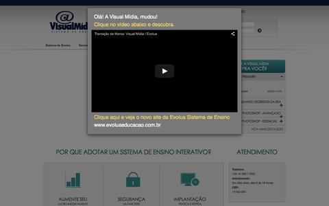 Screenshot of Home Page visualmidia.com.br - Visual Mídia - Evolua - captured Aug. 15, 2015