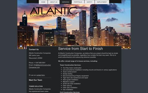 Screenshot of Services Page atlanticconstructioncompanies.com - Atlantic Construction Offers Tower & Civil Construction Services - captured May 31, 2017