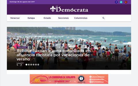 Screenshot of Home Page eldemocrata.com - Home - El Demócrata - captured Aug. 6, 2017