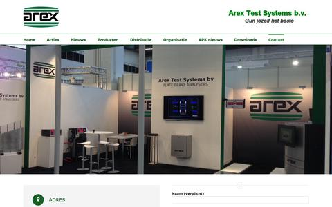 Screenshot of Contact Page arex.nl - Contact – Arex Test Systems B.V. - captured Oct. 8, 2017