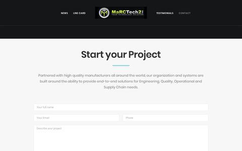 Screenshot of Contact Page marctech2.com - Contact Creative – MaRCTech2, Inc. - captured July 27, 2018