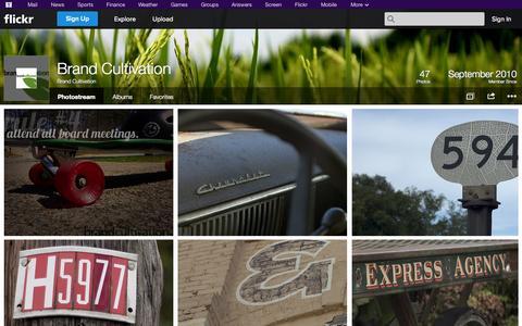 Screenshot of Flickr Page flickr.com - Flickr: Brand Cultivation's Photostream - captured Oct. 23, 2014
