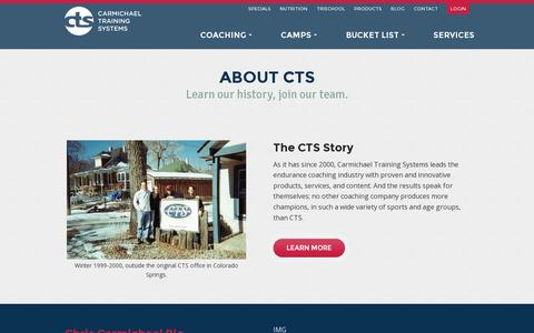 Screenshot of About Page trainright.com - About - CTS - captured July 19, 2014