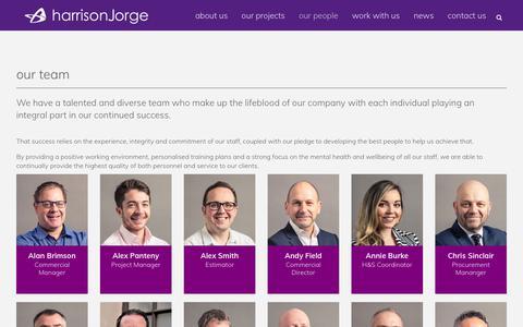 Screenshot of Team Page harrisonjorge.com - Harrison Jorge |   our people - captured Nov. 4, 2018