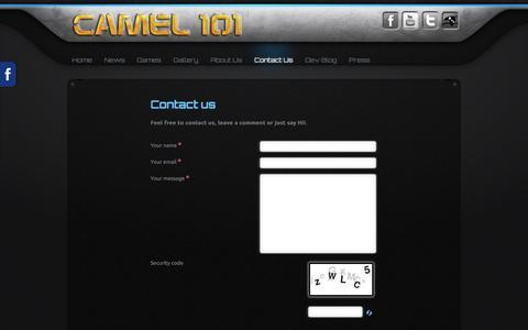 Screenshot of Contact Page camel101.com - Contact Us - captured Dec. 7, 2015