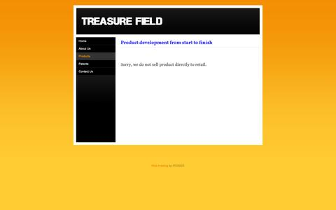 Screenshot of Products Page treasurefield.com - Products - Treasure Field - captured Oct. 20, 2018