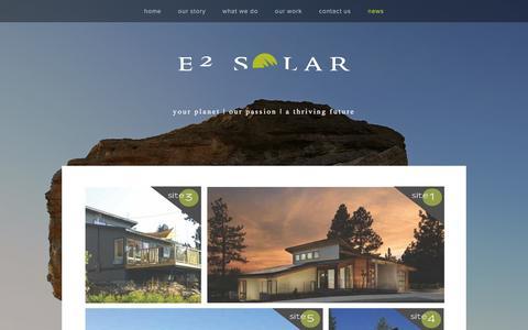 Screenshot of Press Page e2solar.com - News and Information — E2 Solar, Inc. - captured Jan. 24, 2016