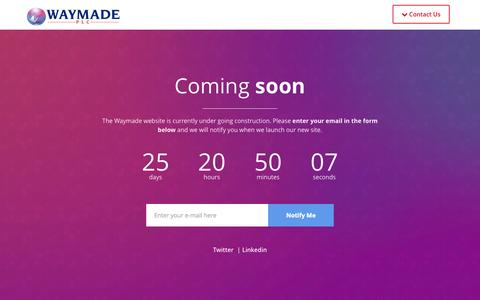 Screenshot of Home Page waymade.co.uk - Waymade - Under Construction - captured Oct. 6, 2014