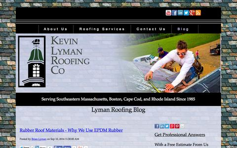 Screenshot of Blog lymanroofing.com - Lyman Roofing Blog, Flat Roof Installation, Slate Roof Repair, Copper - captured Oct. 6, 2014
