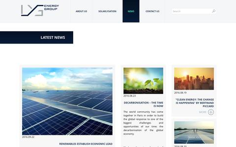 Screenshot of Press Page lysenergy.com - News | LYS Energy Group - captured Oct. 13, 2016