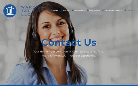 Screenshot of Contact Page wardtaylor.com - Contact Us | Ward & Taylor, LLC - captured Oct. 18, 2018