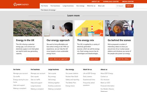 The future of energy | EDF Energy