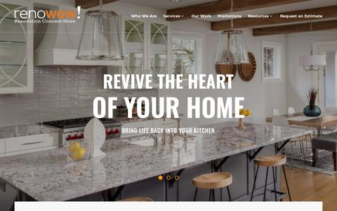 Screenshot of Home Page renowow.ca - Toronto Home Renovation Contractor | Custom Home Remodeling - captured Oct. 20, 2018