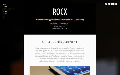 Screenshot of Services Page rocx.com - Our Services — ROCX - captured Oct. 7, 2014