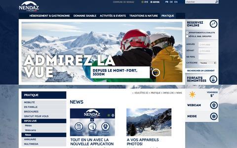 Screenshot of Press Page nendaz.ch - News :: Nendaz :: Tourisme :: Valais :: Suisse - captured Jan. 29, 2016