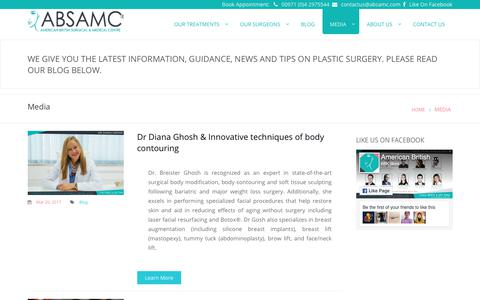 Screenshot of Press Page absamc.com - Gallery ,Procedure video,Beauty guide of Our Surgeons - captured Oct. 8, 2017
