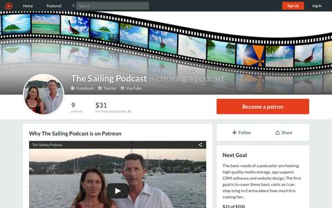Screenshot of Signup Page patreon.com - The Sailing Podcast is creating a podcast   Patreon - captured March 16, 2016