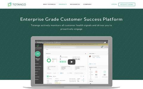 Screenshot of totango.com - Product | Totango | Customer Success Software - captured Dec. 9, 2016