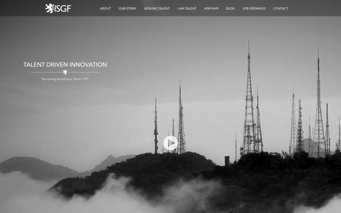 Screenshot of Home Page isgf.com - ISGF - captured Feb. 14, 2016