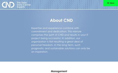 Screenshot of Team Page cnd-ag.ch - CND Schweizer IT-Unternehmen, Team | CND AG The Swiss Data Center Experts - captured July 14, 2018