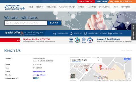 Screenshot of Contact Page jghdelhi.net - Reach Us - captured Nov. 19, 2017