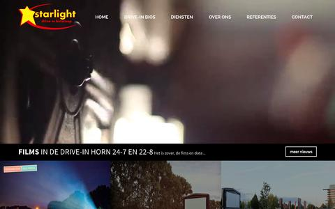 Screenshot of Home Page starlightdrive-in.nl - Home - Starlight Drive-In Bioscoop - captured Aug. 16, 2015