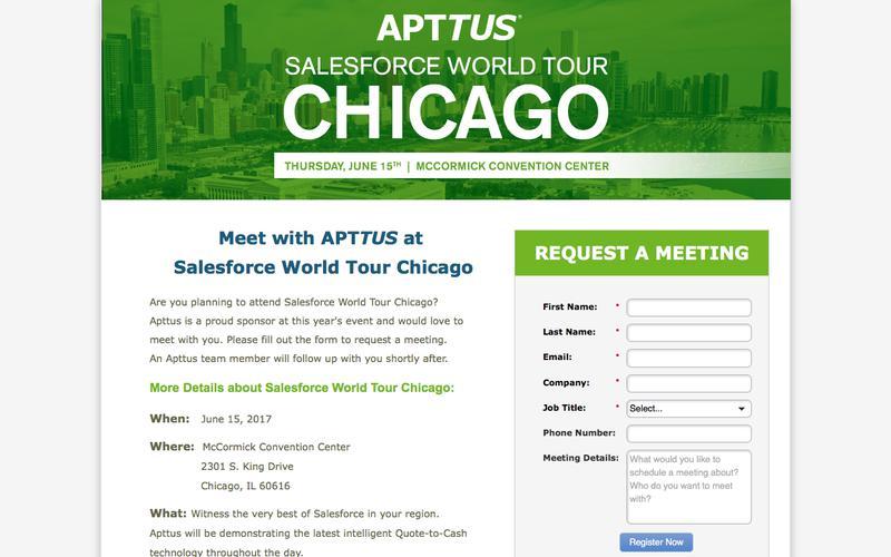 Meet with Apttus at Salesforce World Tour Chicago