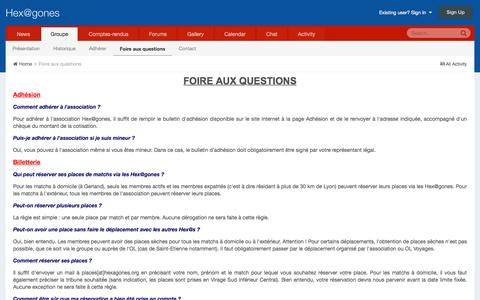 Screenshot of FAQ Page hexagones.org - Foire aux questions - Hex@gones - captured June 2, 2016