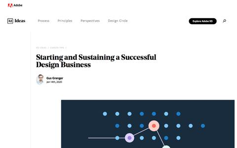 Screenshot of Jobs Page adobe.com - How to Start a Design Business (& Be Successful) | Adobe XD Ideas - captured Jan. 21, 2020
