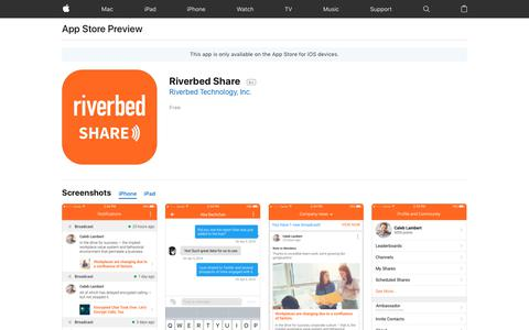 Riverbed Share on the App Store