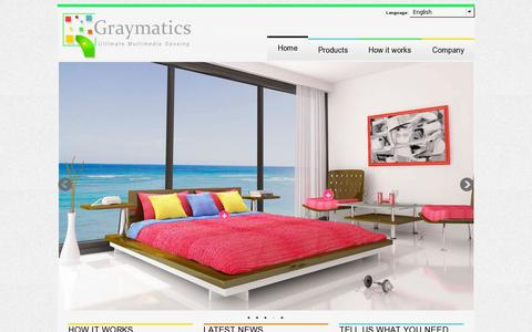 Screenshot of Home Page graymatics.com - Graymatics - captured July 17, 2014