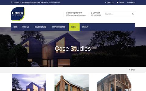 Screenshot of Case Studies Page timberinnovations.co.uk - Case Studies - Timber Innovations - captured Nov. 29, 2016