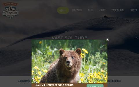Screenshot of Home Page greateryellowstone.org - Greater Yellowstone Coalition - captured Sept. 30, 2018