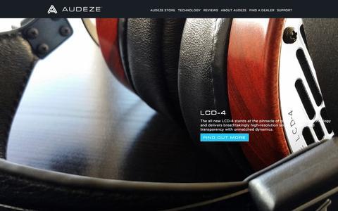 Screenshot of Home Page audeze.com - Home   Audeze  Uncompromised Audio - home page - captured Nov. 3, 2015