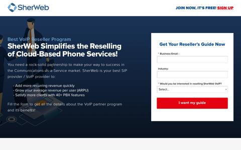 Screenshot of Landing Page sherweb.com - Starting with VoIP? | SherWeb - captured Sept. 19, 2018