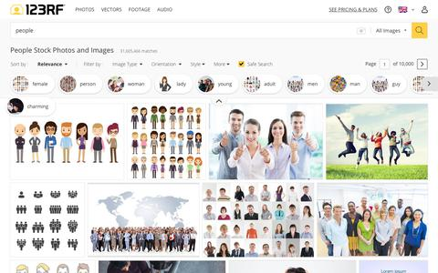 Screenshot of Team Page 123rf.com - People Stock Photos And Images - 123RF - captured Feb. 9, 2019