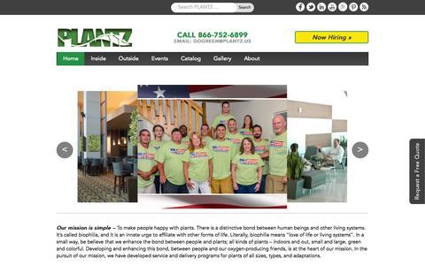 Screenshot of Home Page plantz.us - Office Plants | Indoor Plants for Green Wall, Wedding Plants Rental - captured July 16, 2015